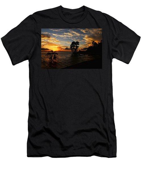 Cypress Bend Resort Sunset Men's T-Shirt (Slim Fit) by Judy Vincent