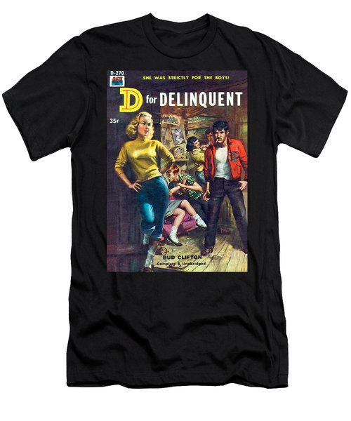 D For Delinquent Men's T-Shirt (Athletic Fit)
