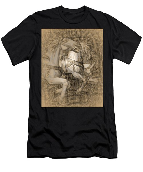 Da Vinci Carousel Men's T-Shirt (Athletic Fit)