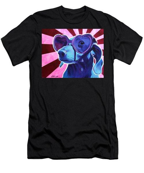 Dachshund - Puppy Love Men's T-Shirt (Athletic Fit)