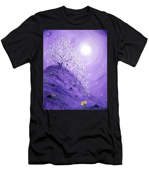 Daffodil Dawn Meditation Men's T-Shirt (Athletic Fit)