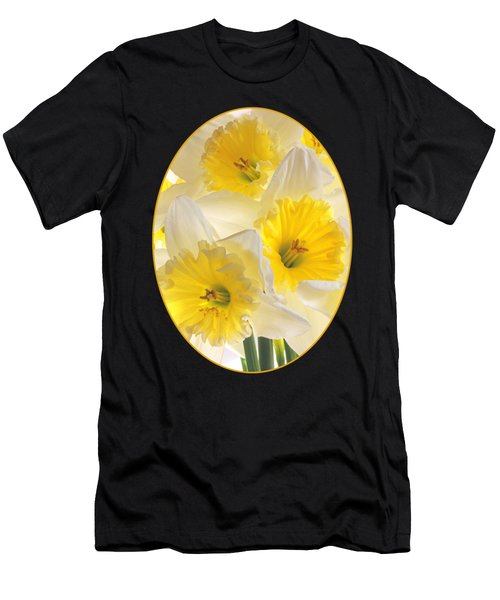 Daffodil Delight Vertical Men's T-Shirt (Athletic Fit)