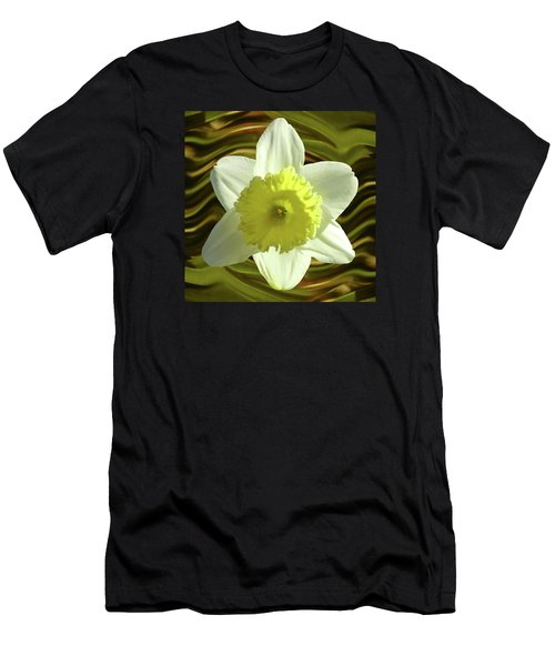 Daffodil Swirl Men's T-Shirt (Athletic Fit)