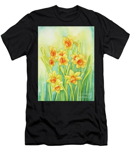 Daffodils In Yellow Men's T-Shirt (Athletic Fit)