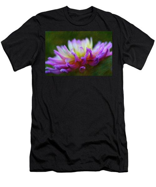 Dahlia Bloom  Men's T-Shirt (Athletic Fit)