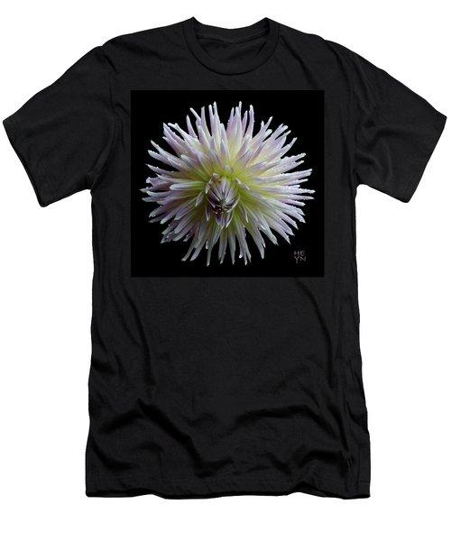 Dahlia Cutout Men's T-Shirt (Slim Fit) by Shirley Heyn