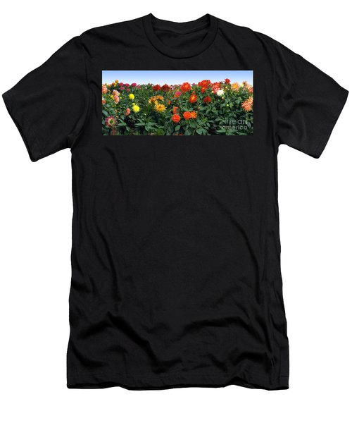 Dahlia Flower Panorama Men's T-Shirt (Athletic Fit)
