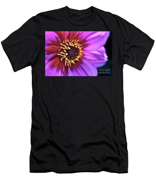Dahlia Flower Portrait Men's T-Shirt (Athletic Fit)