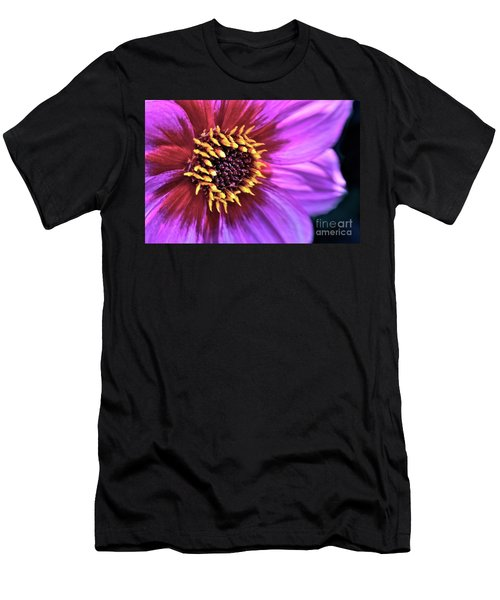 Dahlia Flower Portrait Men's T-Shirt (Athletic Fit)