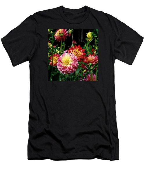 Dahlia Garden Time  Men's T-Shirt (Athletic Fit)