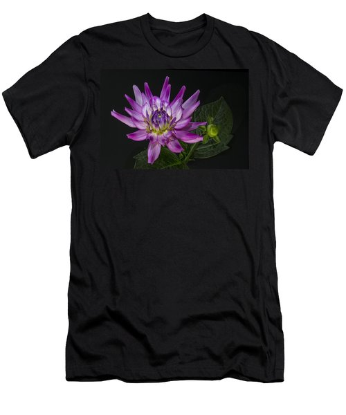 Dahlia Glow Men's T-Shirt (Slim Fit) by Roman Kurywczak