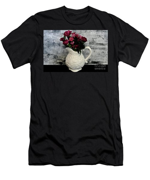 Men's T-Shirt (Slim Fit) featuring the photograph Dainty Flowers by Marsha Heiken