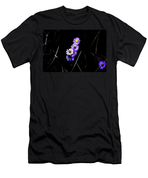 Men's T-Shirt (Athletic Fit) featuring the photograph Daisies In Purple by Lorraine Devon Wilke