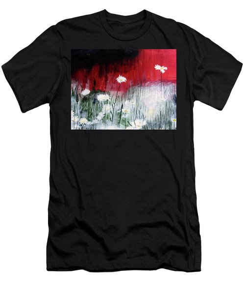 Daisies Men's T-Shirt (Slim Fit) by Mary Ellen Frazee