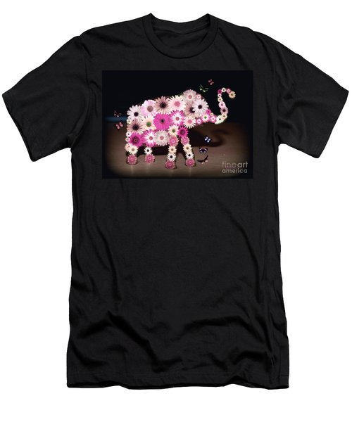 Daisy Elephant Men's T-Shirt (Slim Fit) by Donna Bentley