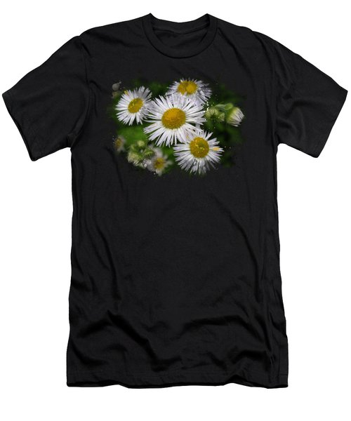 Daisy Watercolor Art Men's T-Shirt (Athletic Fit)