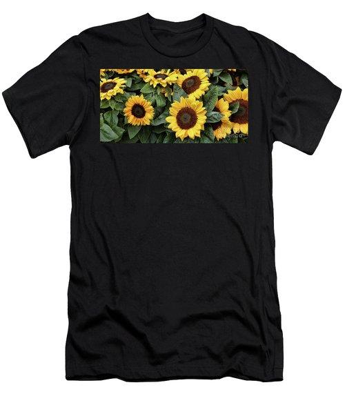 Daisy Yellow  Men's T-Shirt (Slim Fit) by Chuck Kuhn