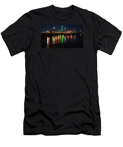 Men's T-Shirt (Slim Fit) featuring the photograph Dallas At Night by Kathy Churchman