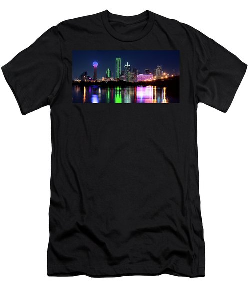 Dallas Colorful Night 52716 Men's T-Shirt (Athletic Fit)