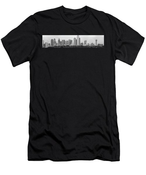 Men's T-Shirt (Slim Fit) featuring the photograph Dallas In Black And White by Jonathan Davison