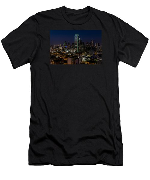 Dallas Skyline Evening Glow Men's T-Shirt (Athletic Fit)
