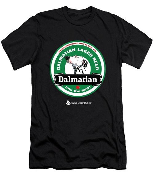 Dalmatian Lager Beer Men's T-Shirt (Athletic Fit)