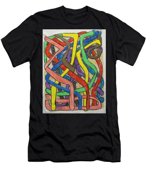 London Bus Routes Men's T-Shirt (Athletic Fit)