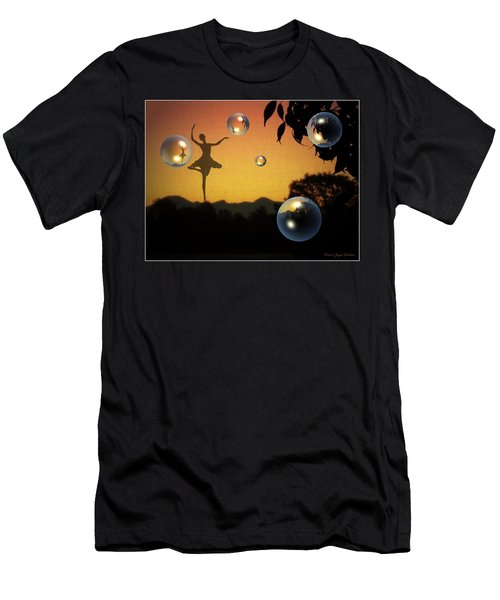 Men's T-Shirt (Slim Fit) featuring the photograph Dance Of A New Day by Joyce Dickens