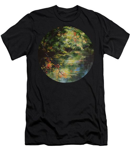 Dance Of Color And Light Men's T-Shirt (Athletic Fit)