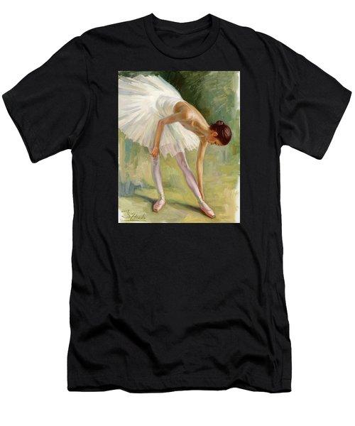 Dancer Adjusting Her Slipper. Men's T-Shirt (Athletic Fit)
