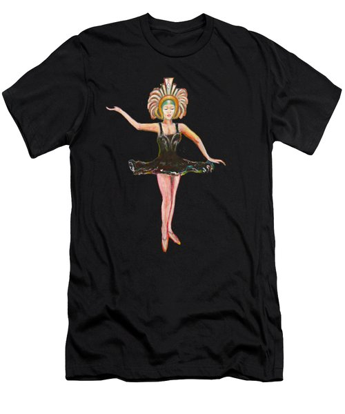 Dancer In The Black Tutu Men's T-Shirt (Slim Fit) by Tom Conway