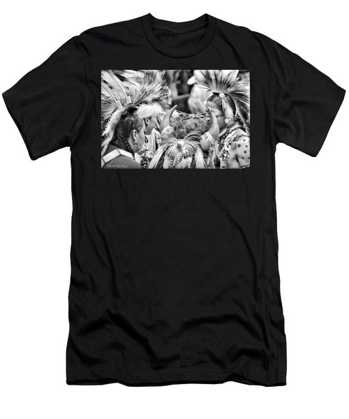 Men's T-Shirt (Slim Fit) featuring the photograph Dancers And Friends by Clarice  Lakota
