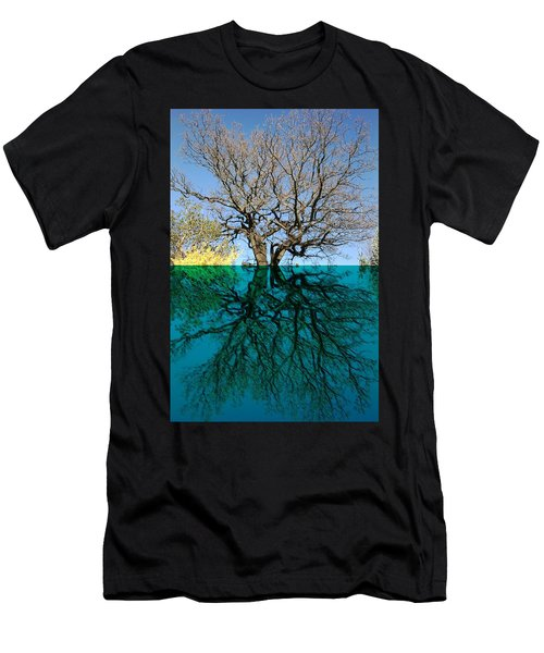 Dancers Tree Reflection  Men's T-Shirt (Athletic Fit)