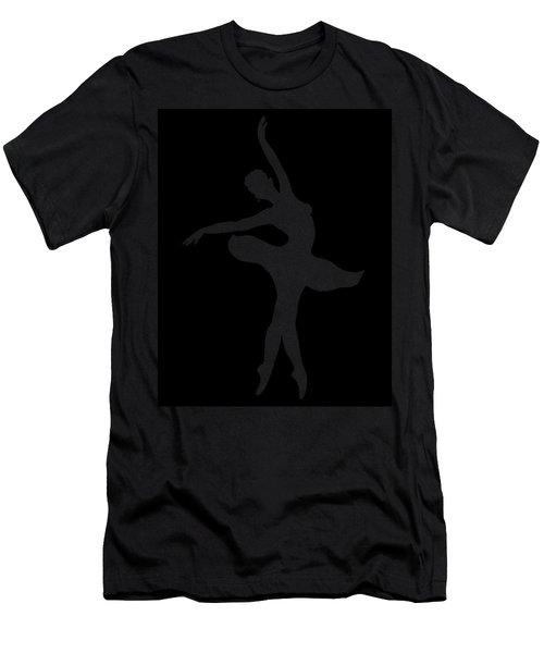 Dancing Ballerina White Silhouette Men's T-Shirt (Athletic Fit)