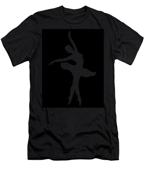 Dancing Ballerina White Silhouette Men's T-Shirt (Athletic Fit)