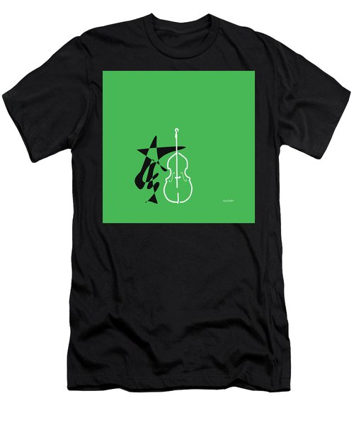 Dancing Bass In Green Men's T-Shirt (Athletic Fit)