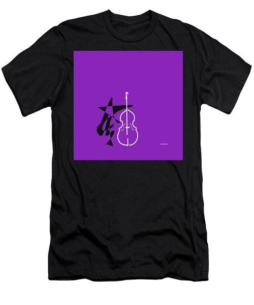 Dancing Bass In Purple Men's T-Shirt (Slim Fit) by David Bridburg