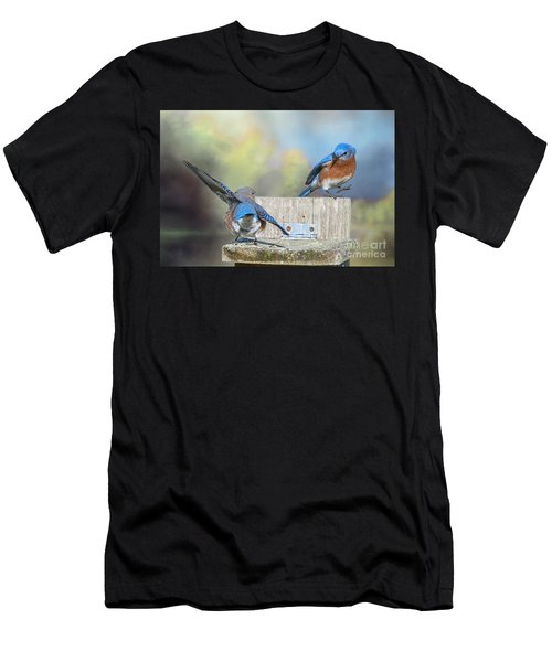 Dancing Bluebirds Men's T-Shirt (Athletic Fit)