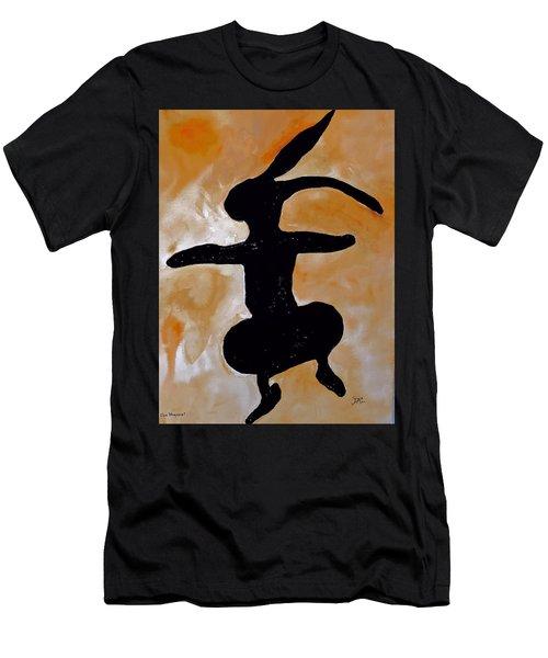 Dancing Bunny Men's T-Shirt (Athletic Fit)