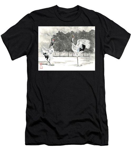 Dancing Crane II Men's T-Shirt (Athletic Fit)