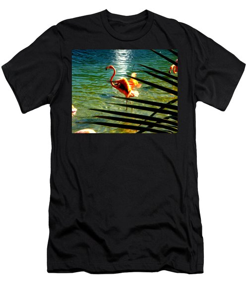 Dancing Flamingo Men's T-Shirt (Athletic Fit)