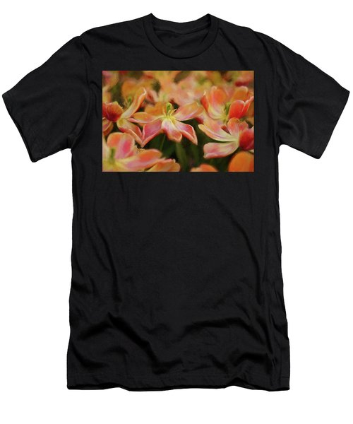 Dancing Flowers Men's T-Shirt (Athletic Fit)
