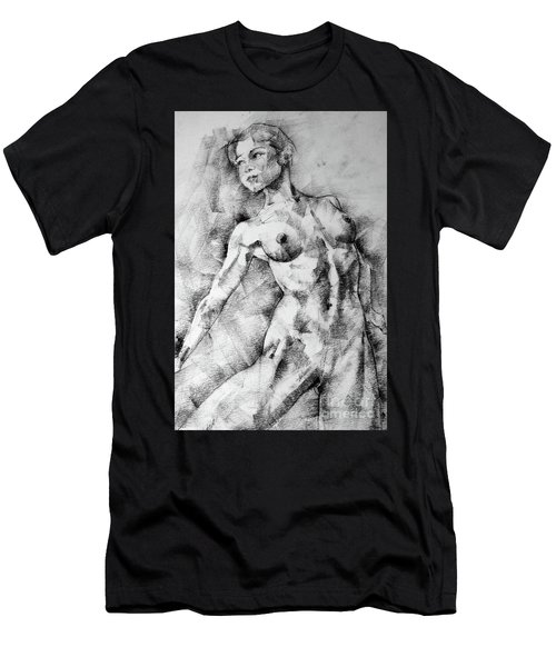 Dancing Girl Drawing Men's T-Shirt (Athletic Fit)