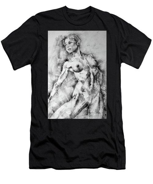 Dancing Girl Drawing Men's T-Shirt (Athletic Fit)
