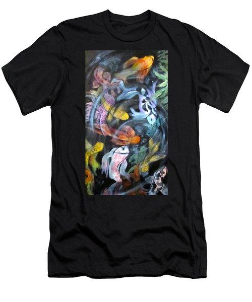 Dancing Koi Men's T-Shirt (Slim Fit) by Barbara O'Toole