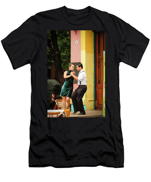 Dancing Tango Men's T-Shirt (Athletic Fit)