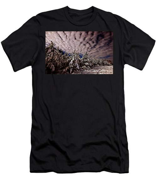 Men's T-Shirt (Slim Fit) featuring the photograph Dancing Trees  by John Harding
