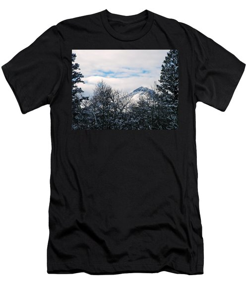 Dancing Woman Mountain In The Winter Men's T-Shirt (Athletic Fit)