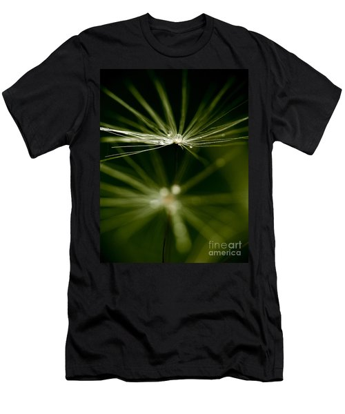 Dandelion Flower With Water Drops  Men's T-Shirt (Athletic Fit)