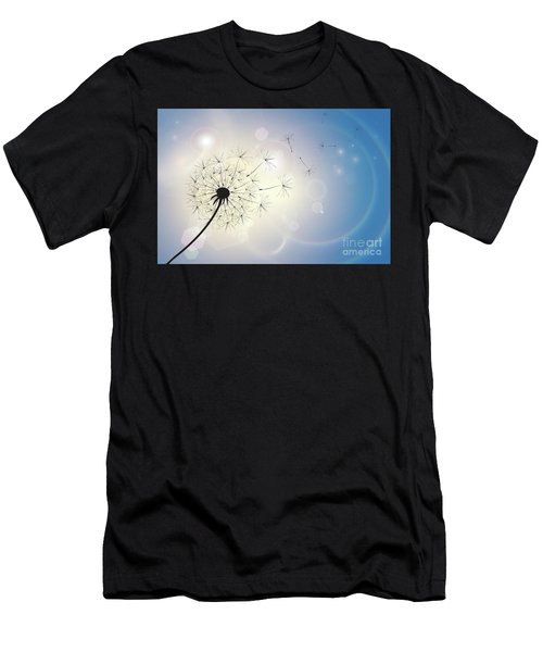 Dandelion In A Summer Breeze Men's T-Shirt (Athletic Fit)